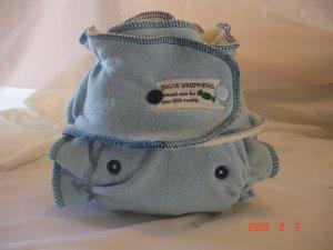 One Size Organic Blue Hemp Diaper