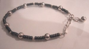 Hematite & Silver Beads