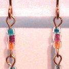 Multi Colored Pierced Earrings