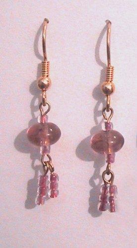 Purple Pierced Earrings