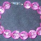 Pink w/ hematite seed beads