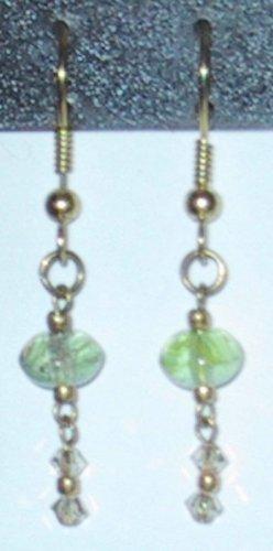 Green Beauty Clip-On Earrings