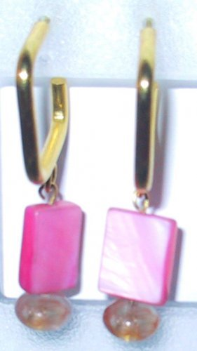 Pink Clip-On Earrings