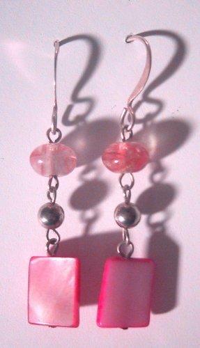 Lady in Pink Clip-On Earrings