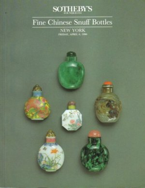 Sotheby's Fine Chinese Snuff Bottles New York Friday April 6 1990 Auction Catalog Rare Resource Book