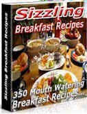350 Sizzling Breakfast Recipes eBook FREE Shipping