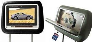 HEADREST LCD SCREEN W/ BUILT IN DVD PLAYER