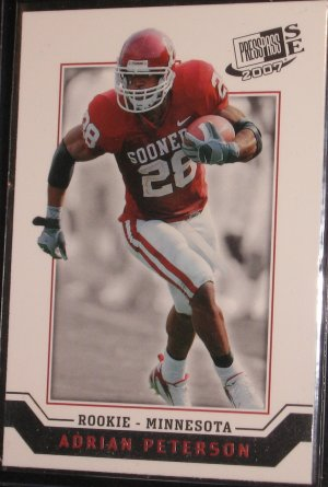 2007 Press Pass Signature Edition Adrian Peterson #29 Rookie