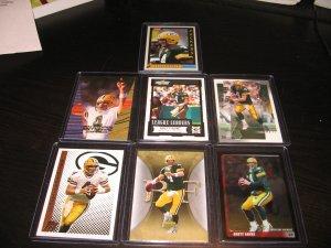 Lot of 7 Brett Favre Cards