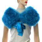 Aqua Blue Club Wear Rock Star Gothic Lolita Capelet Shoulder Wrap