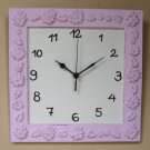 Pink Shabby Chic Wall Clock