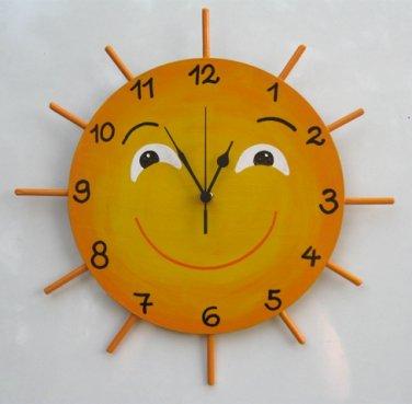 LITTLE MISS SUNSHINE Hand Painted Wall Clock