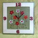 Hand Painted Wooden Wall Clock