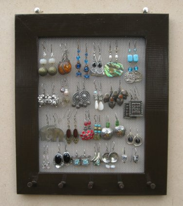 Hand Painted brwon Jewelry Display Rack
