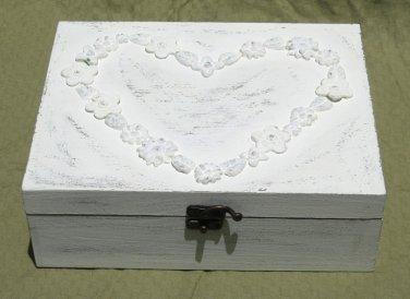 Creamy Shabby Chic JEWELRY BOX
