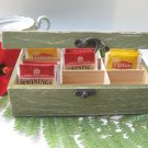 Green Tea Bag box Shabby Chic Home Decor