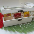 Cream Tea Bag box Shabby Chic Home Decor / Tea bag box