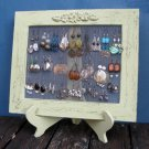 Light Green Shabby Chic Earrings Holder - Its All In The FRAME