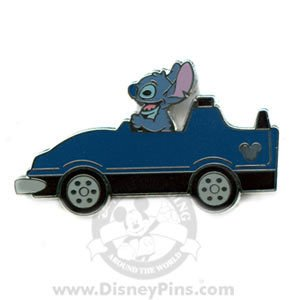 STITCH Blue Race Car Hidden Mickey Cast Disney Pin!