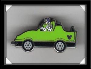 Disney Hidden Mickey Pin BUZZ INDY GREEN Car COMPLETER