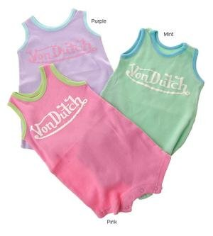 Von Dutch Newborn Infant Girl's 2x2 Rib Tank Creeper