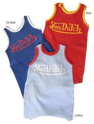 Von Dutch Newborn Infant Boy's 2x2 Rib Tank Creeper