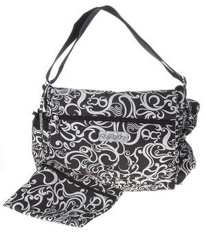 Toddot Black & White Messenger Diaper Bag