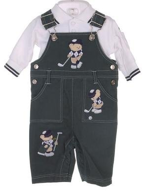 Baby Golf Newborn Boy's Overalls With Cap