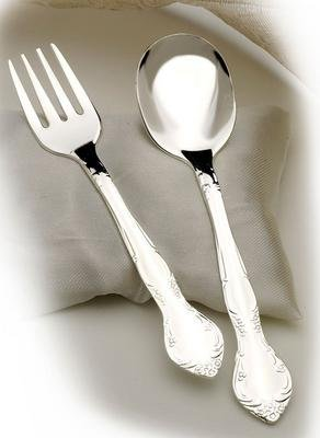 Toddot Baby's Silver Plated Spoon & Fork Set