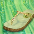 Dollhouse Alexis GOLD Sparkly sandal flats size 8