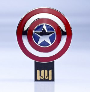 The AVENGERS USB Flash Drive Captain America Shield 8GB
