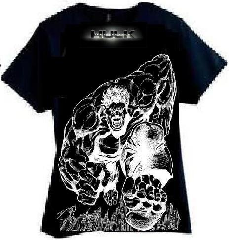Hulk SMash Black T Shirt