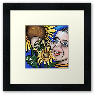 �My SunFlower Friend �  Framed Print