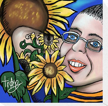 My SunFlower Friend- Canvas Print