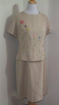 Linen Dress by Positive Attitude Size 16