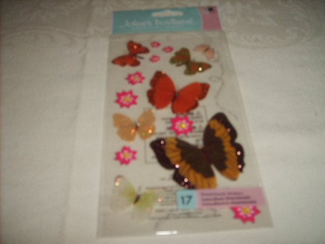 JOLEE'S  BOUTIQUE  STICKERS  (   ORANGE BUTTERFLYS  )