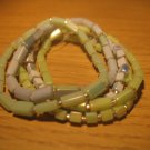 Set of seashell bead bracelets
