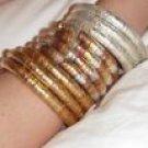 Set of 3 spiral coil bangles