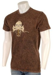 Von Dutch Originals Men's Brown Skull T-shirt size Large