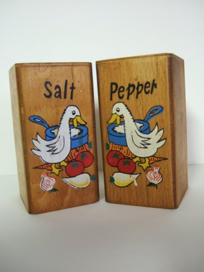 Large Wood Salt & Pepper Shakers