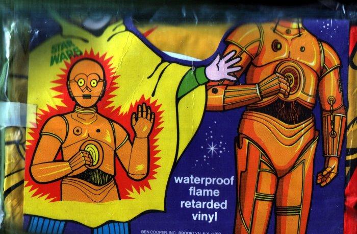 Vintage 1977 Star Wars C-3PO Ben Cooper Fun Poncho