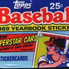 1989 Topps Yearbook Baseball Stickers  Packs