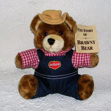 DelMonte plush Brawny Bear
