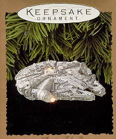 Hallmark Keepsake Ornament Millennium Falcon Star Wars Light and Magic
