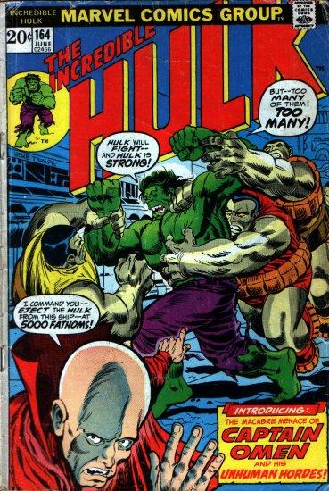 Incredible Hulk Vol 1 #164 June, 1973