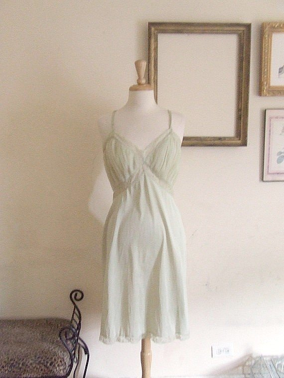 L vintage slip dress - celadon