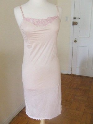 s blush pink slip dress