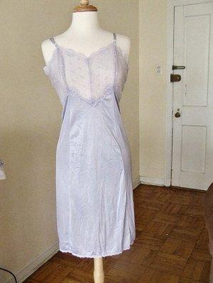 m lacy blue slip dress