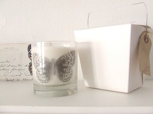 gardenia butterfly candle 11 oz