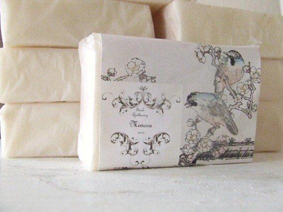 mimosa premium blend goat milk soap